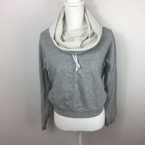 Nike funnel Neck Grey Pullover Sweater Medium